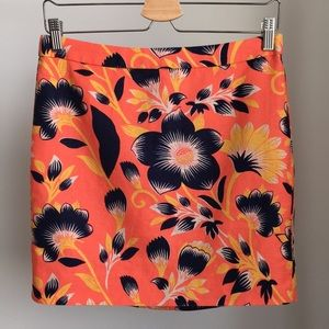 Mini hibiscus print skirt